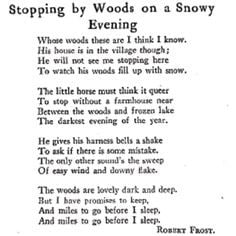 The Poem Robert Frost Stopping by Woods