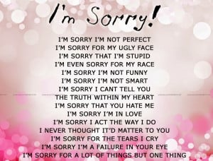 im sorry quotes hd wallpaper life sorry sayings quotes sorry