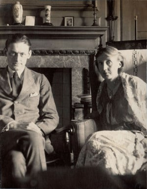 Lady Ottoline Morrell, T.S. Eliot and Virginia Woolf, June 1924