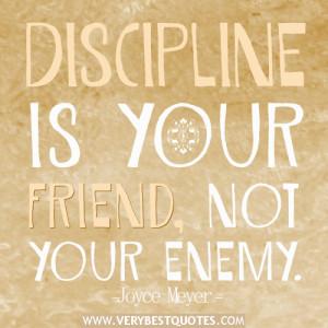 discipline quotes, Joyce Meyer Quotes