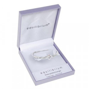 ... SILVER PLATED GUARDIAN ANGEL STAY BY MY SIDE BANGLE GIFT BOX