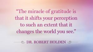 Robert Holden gratitude quote