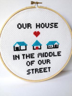 80s Song Quotes Cross stitch music lyrics.