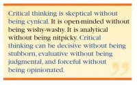 Critical Thinking In Education Essays