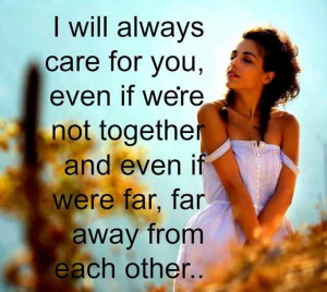 will always care for you-Daily Thoughts