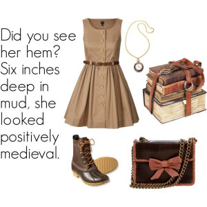 Elizabeth Bennet - Polyvore. I don't understand the quote but okay...