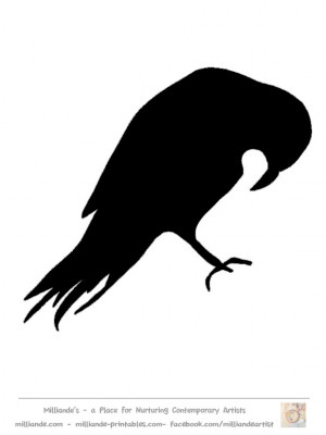 Bird Silhouettes Stencils Printable Free