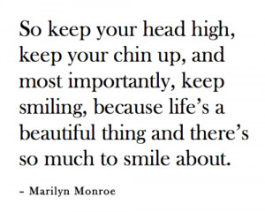 So keep your head high, keep your shin up, and most importantly, keep ...