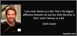 Famous Acting Quotes I was never famous as a kid.
