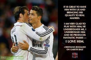 Cristiano Ronaldo on Gareth Bale.