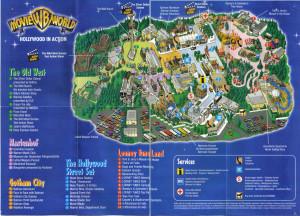 Parkplan aus dem Jahr 2003 der Warner Bros. Movie World