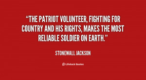 The patriot volunteer, fighting for country and his rights, makes the ...