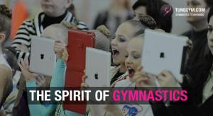 young gymnastics fans cheering @ Tunegym.com gymnastics floor music