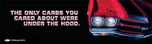 Chevrolet the only carbs you cared about were under the hoods