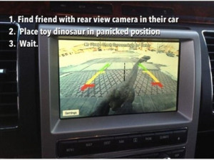 Driving Quotes and Car Memes - Toy Dinosaur Prank