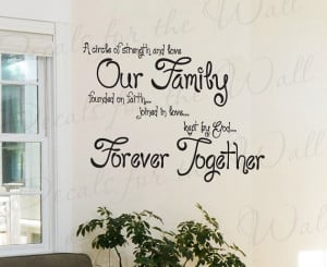 Circle Strength and Love Our Family Faith Inspirational Quote ...