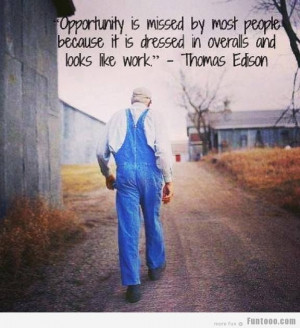 Great Quote by Thomas Edision