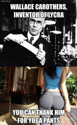 Good Guy Wallace Carothers inventor of yoga pants