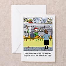 Warm Coffee Holiday Cartoon Greeting Cards (Pk of for