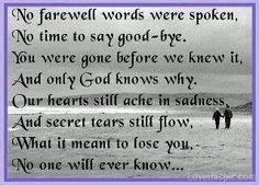 miss my husband so much---yet my comfort comes from knowing that his ...