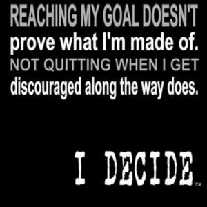 Reaching goals.