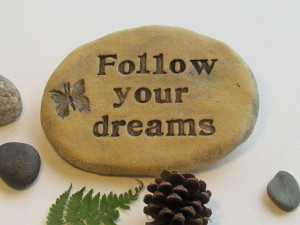 OUTDOOR Stone with quote Inspiring saying by Poemstones on Etsy, $18 ...