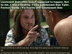 forrest gump lieutenant dan forrest gump li