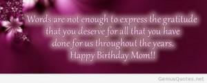Happy birthday to my mom quote 2014