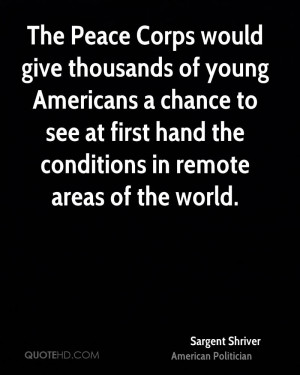 Quotes About the Peace Corps