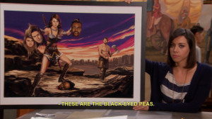 parks and recreation parks and rec black eyed peas aubrey plaza april ...