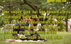 Long Distance Relationship Romantic Love Quotes