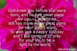 Religious Birthday Quotes