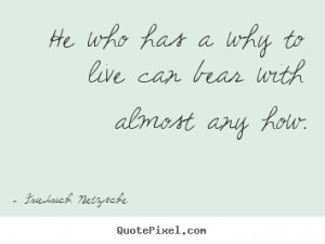 Quotes about inspirational - He who has a why to live can bear with ...