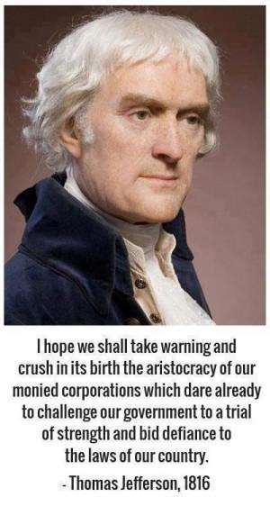 Thomas Jefferson on Corporate Influence