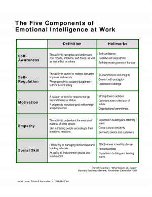The Five Components of Emotional Intelligence at Work