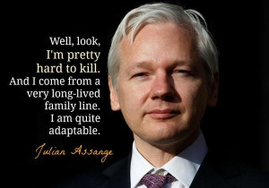 exclusive: Defiant Julian Assange says he's 'pretty hard to kill'
