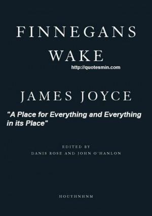 James Joyce - Finnegans Wake Literary Quote: