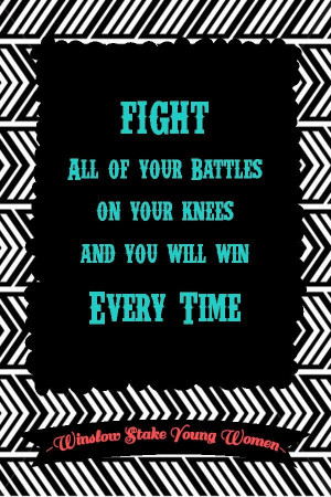 ... at www.MormonLink.com Battle, Lds Quotes, Quotes Prayer, Advice Quotes
