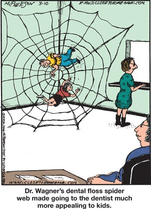 Dentist Humor: Dr. Wagner's dental floss spider web made going to the ...
