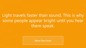 Windows 8 App That Gives One Liner Quotes: One Liner