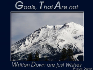 Goals, that are not written down are just wishes
