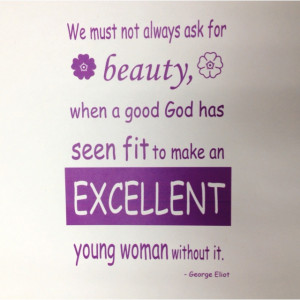 Great quote from Middlemarch by George Eliot (Mary Ann Evans)