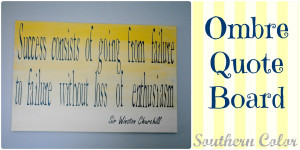 Guestroom Makeover: Ombre Quote Board