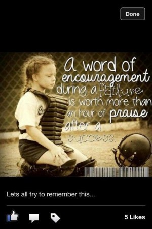 Encouragement ~ Softball! ⚾