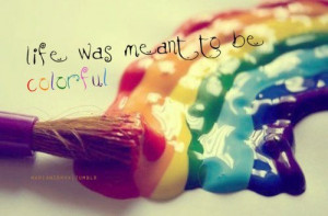 art, awesome, quotes, rainbow