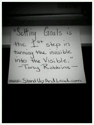 Setting goals is the 1st step in turning the invisible into the