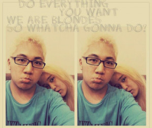 blonde, boy, girl, hair, quotes