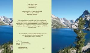 Sawtooth Lake Wilderness & Hiking Greeting Card - full card showing ...
