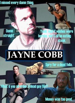 Jayne Cobb quotes.