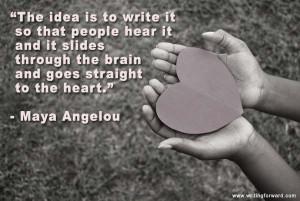 Quotes on Writing: Maya Angelou